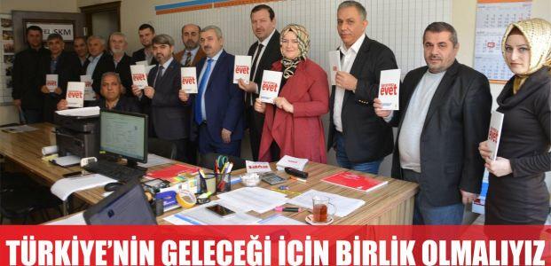 Türkiye'nin geleceği için birlik olmalıyız