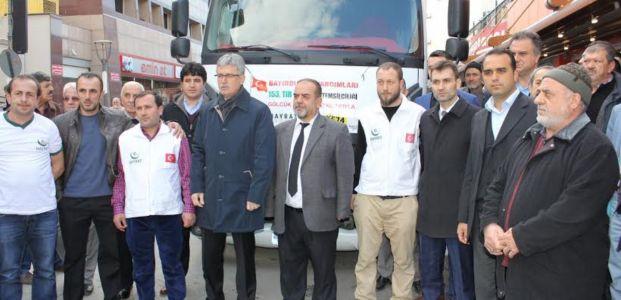 Türkmenlerine Yardım Tırı Uğurlandı