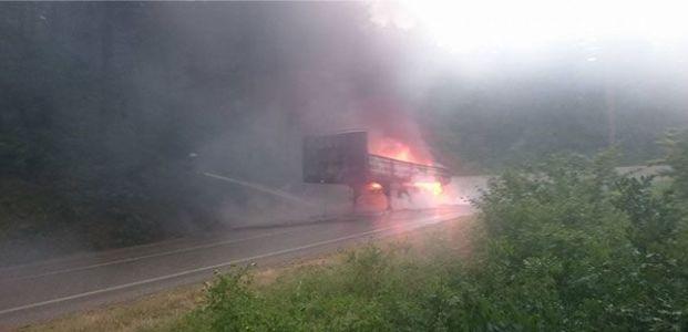 Umuttepe'de araç yangını