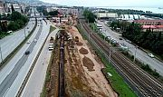 Kuruçeşme tramvay hattında yeni menfezin inşasına başlandı