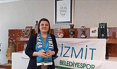 Başkan Hürriyet, İzmit Belediyespor'a Avrupa serüveninde başarılar diledi