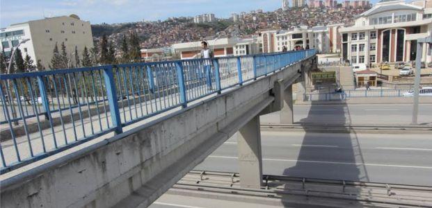 Valilik yaya köprüsü çalışmaları yeniden başlıyor