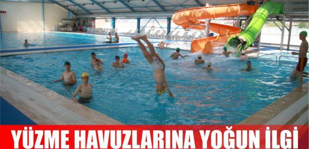 Yaz Sıcağında Yüzme Havuzuna Yoğun İlgi