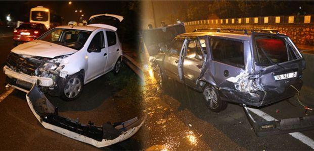 Yeniköy'de trafik kazası:2 yaralı